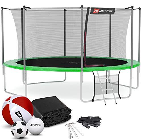 Hop-Sport Trampolin Outdoor Ø 366 cm – Gartentrampolin Komplettset mit stabilen U-Beinen,...