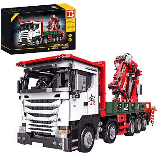 Trueornot Technik Kran LKW Technic Ferngesteuert Kranwagen, 3925 Teile Technik Kranwagen Modell mit 8...