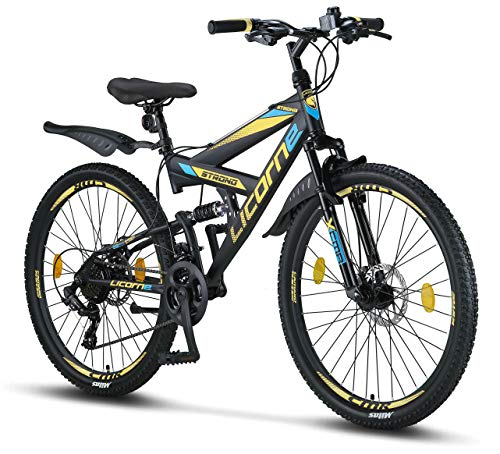 Licorne Bike Strong D Premium Mountainbike in 26 Zoll - Fahrrad für Jungen, Mädchen, Damen und Herren -...