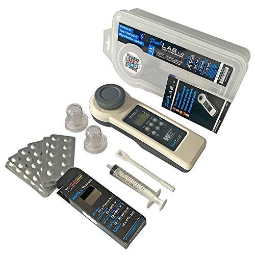 Pool Lab 1.0 Tragbarer Poolwassertester, Modell POL01, Weiß und Schwarz