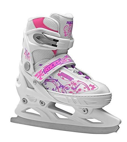 Roces Kinder Schlittschuhe Jokey Ice Girl Größenverstellbar verstellbar, White-pink,Violet, 34-37