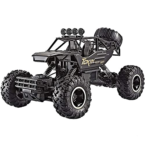 Lihgfw Schwarz Klettern High Speed Alloy 2.4G RC Buggy, 4WD Mountain Cross-Country Mountain Altes...