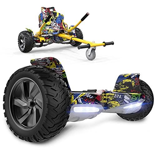 GeekMe Self Balance Scooter 8,5 '' All-Terrain mit leistungsstarkem Motor Bluetooth eingebaut + Hoverkart...