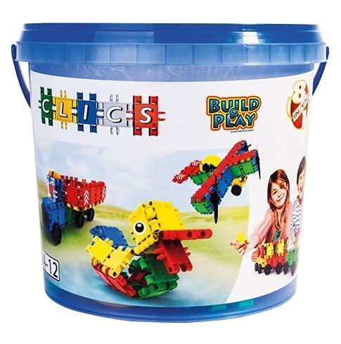 Clics Konstruktionsspielzeug für Kinder ab 3 Jahre, kreatives Lernspielzeug im 160 Teile Set, Bausteine...
