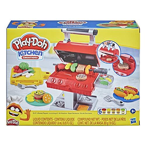 Hasbro F0652 Kitchen Creations Grillstation Spielset für Kinder ab 3 Jahren mit 6 Play-Doh Farben und 7...