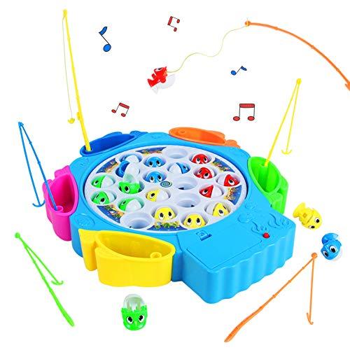 Angelspiel Fisch Angeln Spielzeug Musik Kinderspielzeug Pädagogisches Spielzeug ab 3 4 5 6 Jahren Junge...