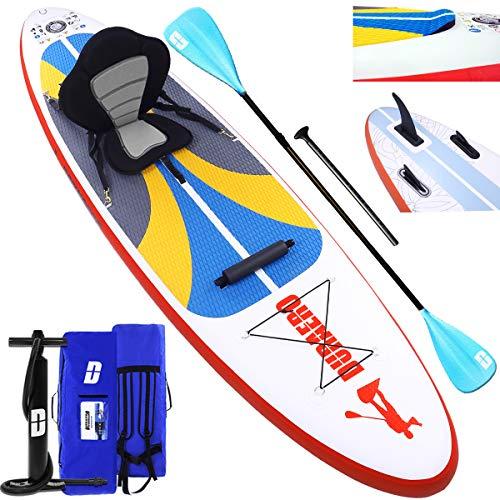 DURAERO Stand up Paddle Board Aufblasbare SUP Board kajak Stand up Paddling Board, inkl. Kajak Sitz,...