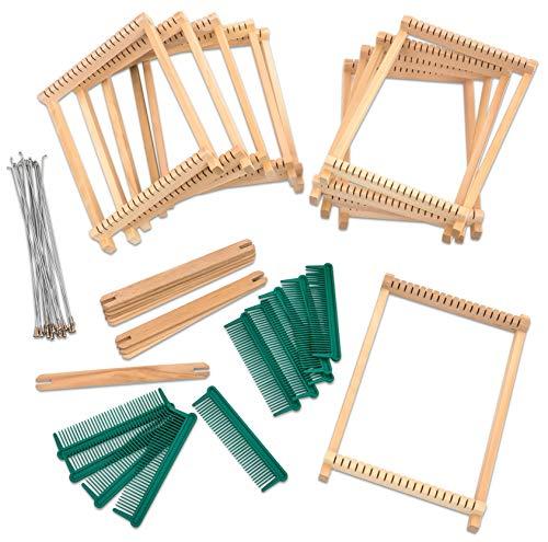 Betzold 81372 - Holz-Webrahmen-Set - 10 x Schul-Webrahmen Kinder-Webrahmen Weben