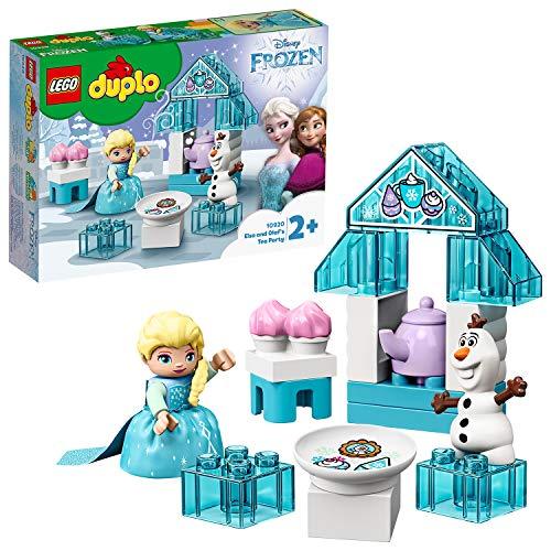 LEGO 10920 DUPLO Princess Frozen II Elsas und Olafs EIS-Café Spielset mit großen Steinen, Cupcakes und...