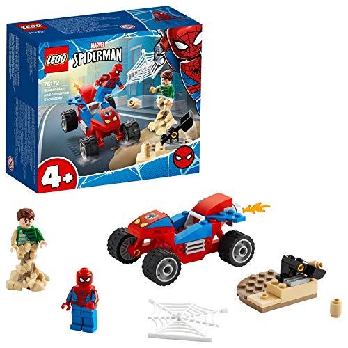 LEGO 76172 Super Heroes Das Duell von Spider-Man und Sandman Spielset mit Rennauto für Jungen und...