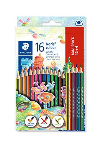 STAEDTLER 187 C12P1 Noris Colour Buntstift (erhöhte Bruchfestigkeit, Dreikantform, attraktives Design,...