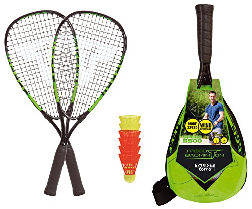 Speedminton Kinder Junior Speed Badminton Set Gr/ün One Size
