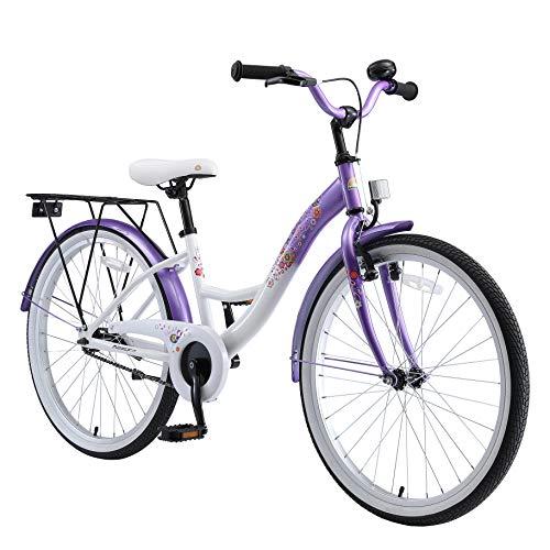 BIKESTAR Jugendfahrrad Kinderfahrrad für Mädchen ab 9 Jahre | 24 Zoll Kinderrad Classic | Fahrrad für...