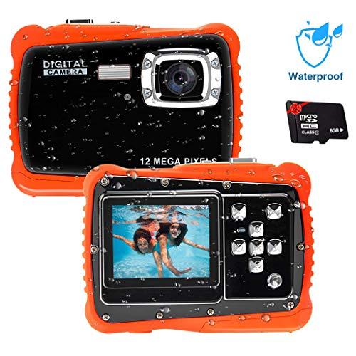 Unterwasser Kamera für Kinder,12MP HD Wasserdichte Digitalkamera,Mini Action Camcorder Kinderkamera,2.0...