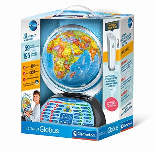 Clementoni 59184 Galileo Science – Digitaler Globus, sprechende Weltkugel mit interessanten Fakten,...