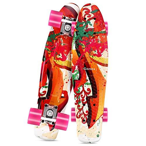 Gonex Skateboard für Kinder Mädchen 22' Penny Board für Erwachsene Jungen Anfänger Mini Cruiser Klein...