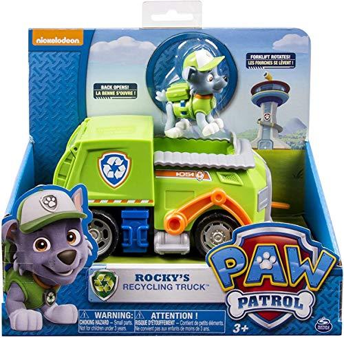 PAW Patrol 6027644 - Basis Fahrzeug Recylinglaster mit Rocky