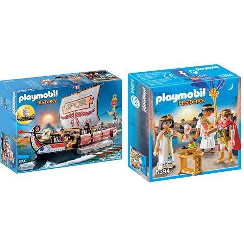 Playmobil 5390 - Römische Galeere &  5394 - Cäsar und Kleopatra