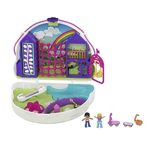 Polly Pocket GKJ65 - Regenbogen Tasche, tragbare Schatulle mit Zubehörteilen, Spielzeug ab 4 Jahren