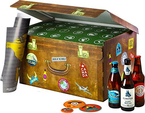 World Wide Beers   24 Flaschen internationale Biere aus aller Welt als Geschenkbox (24x0,33l)  ...
