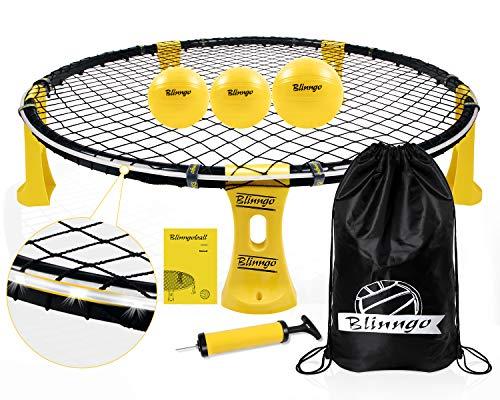 Mookis Blinngoball Outdoor Spieleset Team Games Set bestehend aus Spielnetz, 3 Bällen, Kordelzug,...