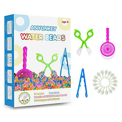 Wasserperlen für Kinder Ungiftig, 55000 Aqualinos Orbeez, Wasserkugeln Wassergel Kugeln Deko für Blumen...