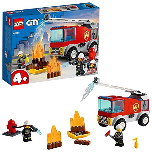 LEGO 60280 City Feuerwehrauto Spielzeug mit Feuerwehrmann als Minifigur für 4-jährige Jungen und...