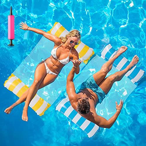 Huarumei 2Stk Luftmatratze Pool, Pool Spielzeug Erwachsene 4 In 1 Aufblasbare Wasserspielzeug Pool...