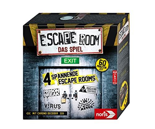 Noris 606101546 - Escape Room (Grundspiel) - Familien und Gesellschaftsspiel für Erwachsene, inkl. 4...
