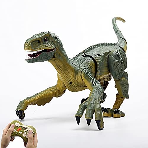 GDZTBS Ferngesteuerte Dinosaurier Spielzeug für Kinder, Realistische Simulation Dinosaurier Spielzeug RC...