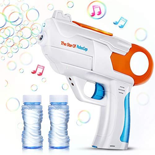 EPCHOO Seifenblasenpistole, LED Seifenblasen Pistole mit Sound Bubble Gun Bubble Maschine Pistole mit...