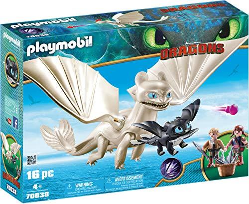 Playmobil DreamWorks Dragons 70038 Tagschatten und Babydrachen mit Kindern, Ab 4 Jahren