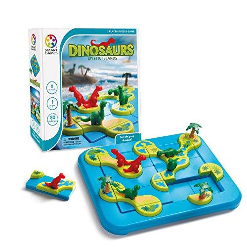 Smart Games 518426 SG 282 Dinosaurs Dinozaury Mystic Islands, Multicolour