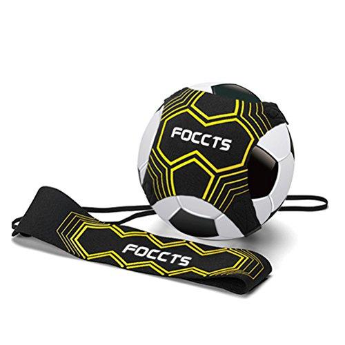 FOCCTS 1Stück StarKick Trainer Fußball Kick Trainer Gummiband für Fußballtraining Fußball Kick...