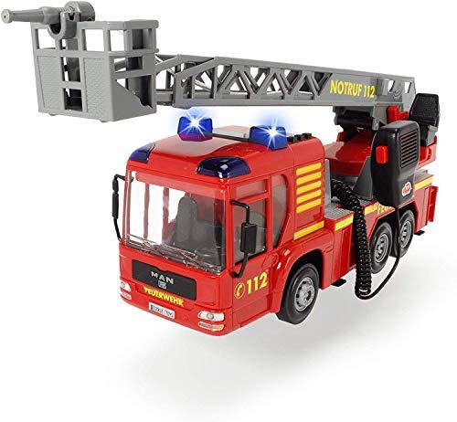 Dickie 203716003 Toys Fire Hero, Feuerwehrauto mit manueller Wasserspritze, Licht-& Soundeffekt, inkl....