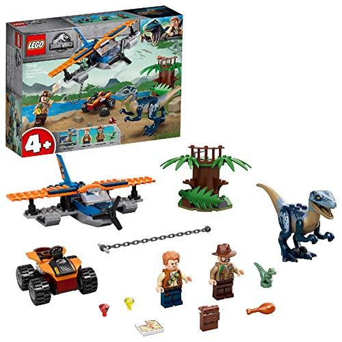 LEGO 75942 Jurassic World Velociraptor: Rettungsmission mit dem Doppeldecker 4+ Dinosaurier Spielzeug...