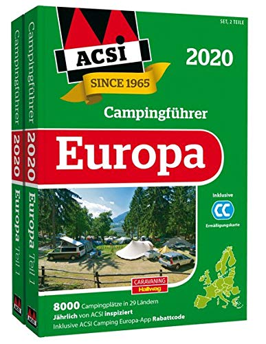 ACSI Internationaler Campingführer Europa 2020: in 2 Bänden inkl. Ermässigungskarte und ACSI Camping...