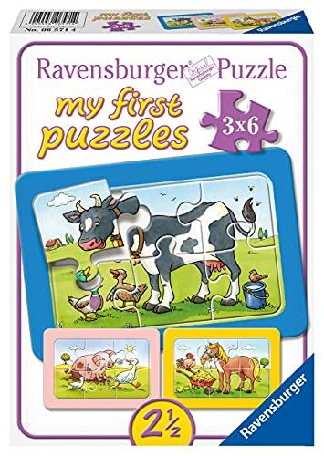 Ravensburger Kinderpuzzle - 06571 Gute Tierfreunde - my first puzzle mit 3x6 Teilen - Puzzle für Kinder...