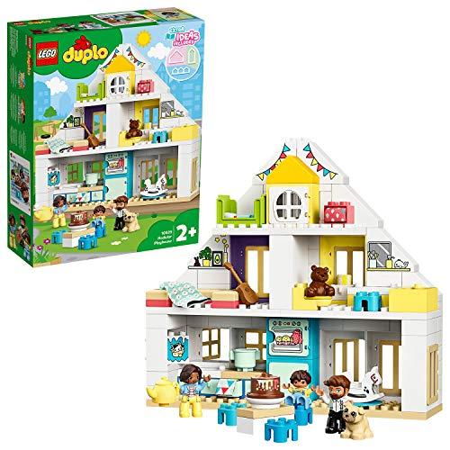 LEGO 10929 DUPLO Unser Wohnhaus 3-in-1-Set, Puppenhaus für Mädchen und Jungen ab 2 Jahren mit Figuren...