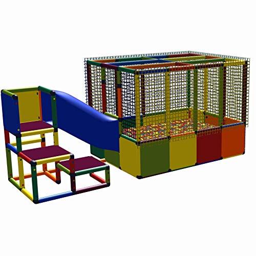 move and stic 6010 - großer Spielturm Lilly mit Kriechtunnel und Bällebad Multicolor