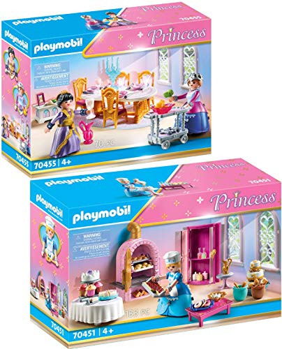 PLAYMOBIL® Princess 2er Set 70451 70455 Schlosskonditorei + Speisesaal