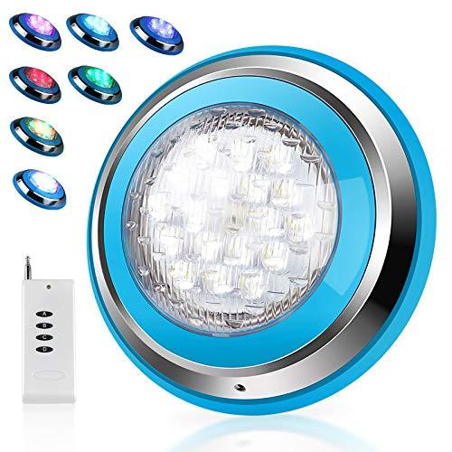 Roleadro Direkt Unter Wasser Gelegt 54w LED Poolbeleuchtung RGB IP68 Edelstahl Schale,Unterwasser Led...