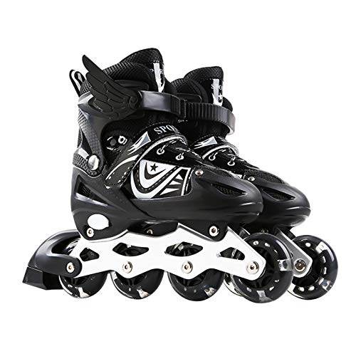 Inline-Skates, Verstellbare Inline-Skates Kinder Herren Damen, Rollschuhe Schlittschuhe Rollerblades,...