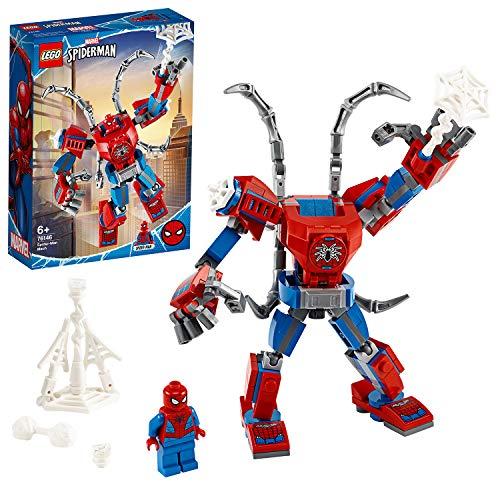 LEGO 76146 Super Heroes Marvel Spider-Man Mech Spielset für Kinder ab 6 Jahren