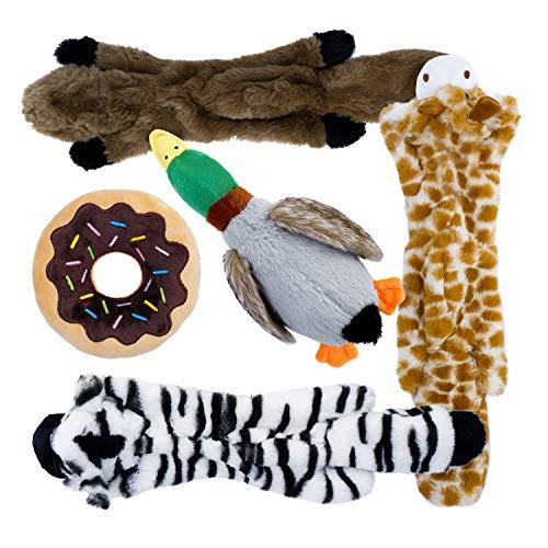Toozey Hundespielzeuge Quitschend - Füllungsfreie Spielzeug für Hund und Plüschtierspielzeuge mit...