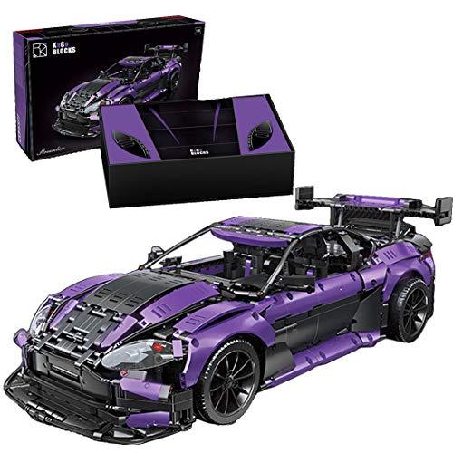 Amitas Technik Rennwagen Klemmbausteine Bauset, Technik Sportwagen Modellbausatz für Aston Martin GT3...