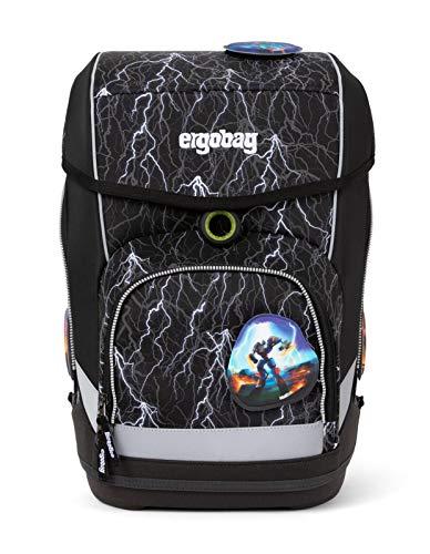 Ergobag cubo SuperReflektBär Glow, Reflex Glow Edition, ergonomischer Schulrucksack, Set 5-teilig, 19...