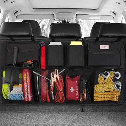SURDOCA Auto Organizer Kofferraum - 3rd Gen [doppelte Kapazität] Organizer Auto, ausgestattet mit...