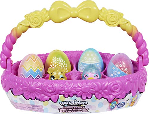 Hatchimals 6060902 CollEGGtibles Frühlingskorb mit 5 3 Haustieren, Ostergeschenk für Kinder ab 5 Jahren