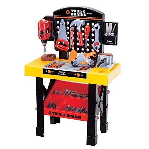 COSMOLINO 68 Stück Werkzeug Kind, Werkzeugbank, Kinderwerkbank,Kinder Werkzeugkoffer Werkzeuge...